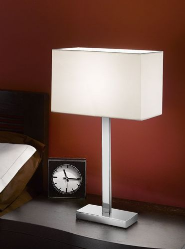 Franklite TL875/9867 Chrome Table Lamp (Class 2 Double Insulated)